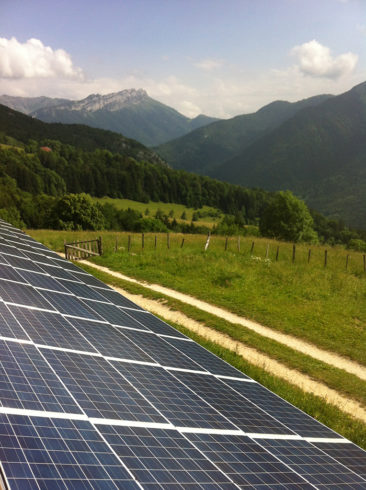 Installation solaire Le Chatelard