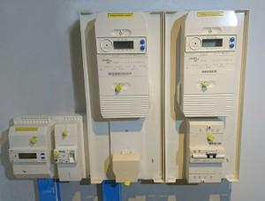 Compteurs électriques installation solaire