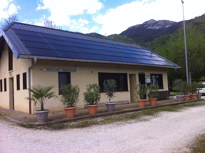 Installation panneaux solaire Camping Le Chatelard