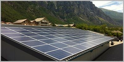 Salle de sport toiture solaire SAINT JULIEN MONT DENIS