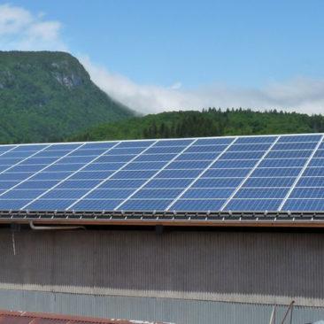 Installation solaire sur toiture industrielle
