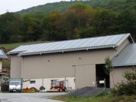 Installation solaire toiture agricole Savoie