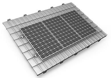 Panneau solaire simple rail