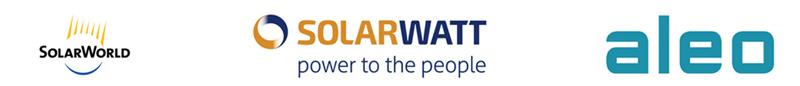 Logos Solarworld Solarwatt Aleo Solar